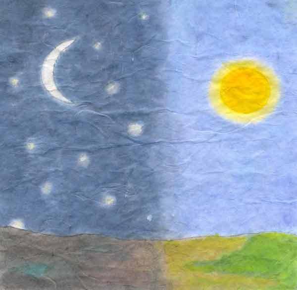 jorden om natten